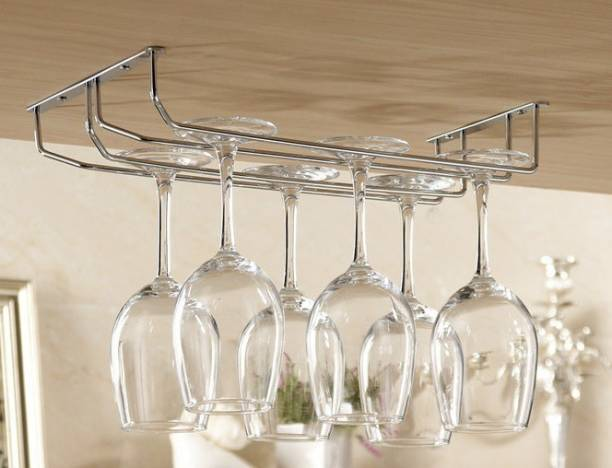 """KEEPWELL Double Line 20.5"""" Long Stainless Steel Wine Rack"""
