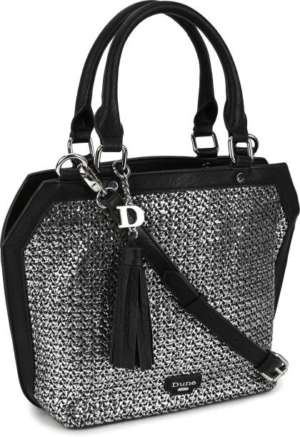 Dune London Women Silver, Black Hand-held Bag