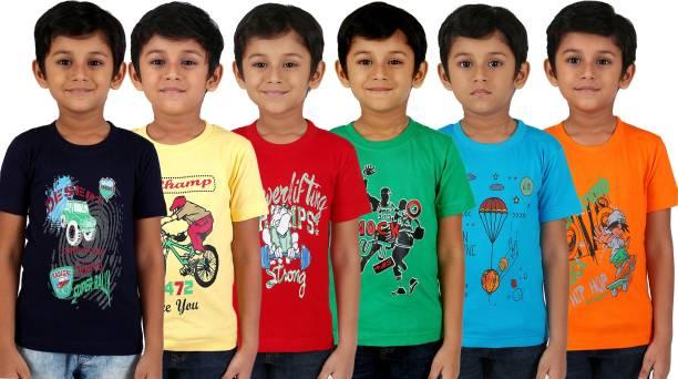 FabTag  - kiddeo Boys Printed Cotton Blend T Shirt