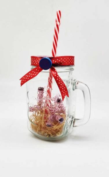 Satyam Kraft message in a bottle mason jar (pack of 1) Glass Mug