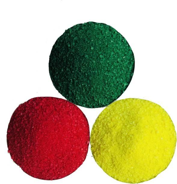 COLORFULL Pack of 3 Rangoli Powder