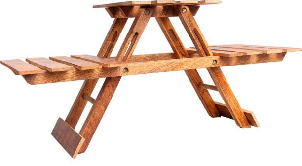 Phirkcraft Wooden Handcrafted Foldable Outdoor & Cafeteria Stool