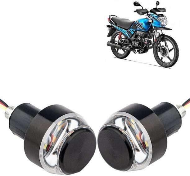 Shoolin SLNWBHL-048 Passion Pro TR Bike Turn Signal Grip Side Indicator Handle Bar Weight Light/ Bike Motorcycle Modify LED Light Fog Lamp, Indicator Light, Side Marker, Mirror Light, Headlight, Dash Light, Back Up Lamp Motorbike LED for Hero (12 V, 15 W)