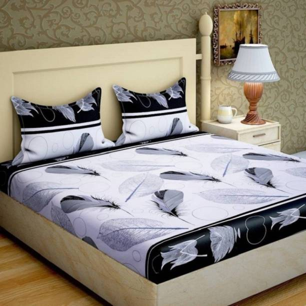 Phyto Home 141 TC Microfiber Double 3D Printed Bedsheet