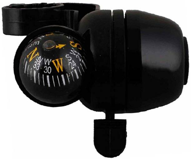 FASTPED Plastic Bicycle Navigation Bike Compass and Handlebar Bell (Black) Bell