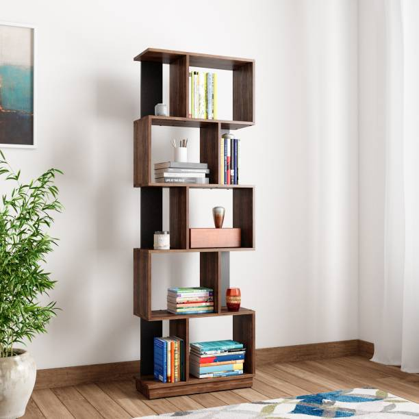 Home By Nilkamal Checkers Engineered Wood Open Book Shelf