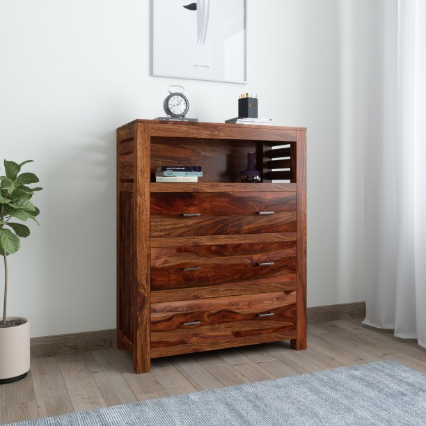 Induscraft INBCD4 Solid Wood Free Standing Chest Of Drawers