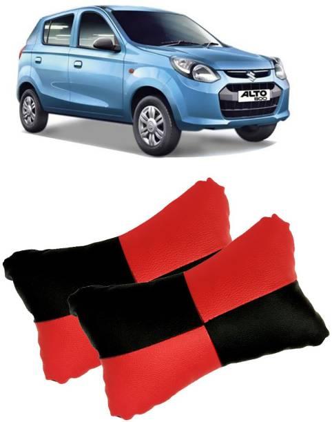 Shoolin Black, Red Leatherite Car Pillow Cushion for Maruti Suzuki