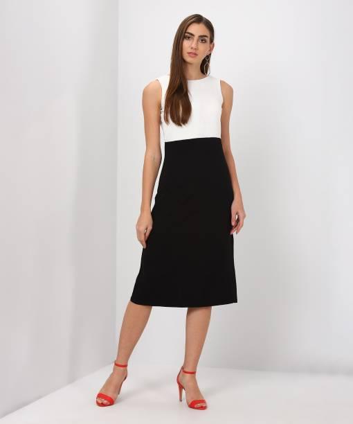 And Women A Line Black Dress