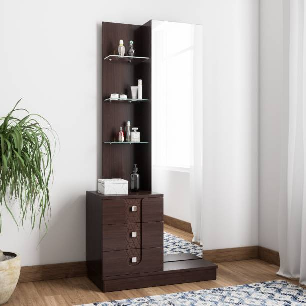 @Home by nilkamal Solid Wood Dressing Table