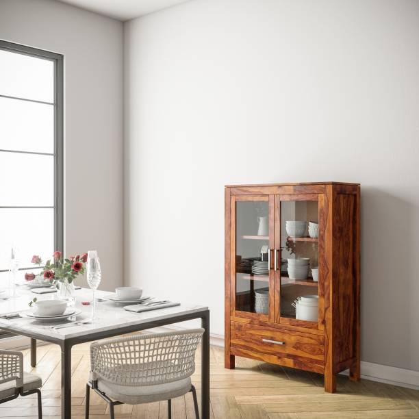 Flipkart Perfect Homes Purewood Sheesham Crockery Cabinet
