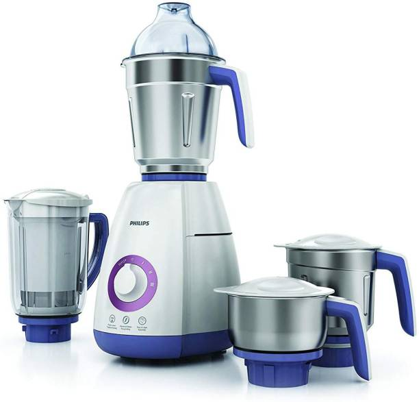 PHILIPS NEW HL7701 750 Mixer Grinder (4 Jars, Elegant Lavender and White)