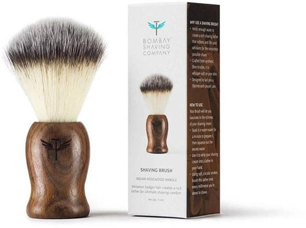 BOMBAY SHAVING COMPANY  with Cruelty-Free Imitation Badger Bristles (Indian Rosewood Handle) Shaving Brush