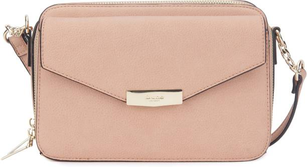 Dune London Women Casual Pink Genuine Leather Sling Bag
