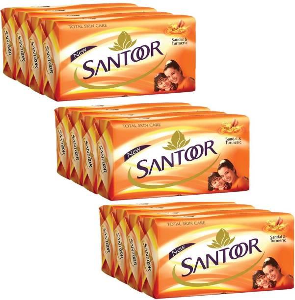 santoor Soap Sandal & Turmeric 125g x 12