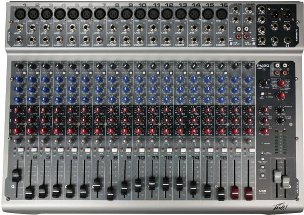 MX PV 20 Professional Channel Mixing Console USB Mixer with USB and Effects Analog Sound Mixer