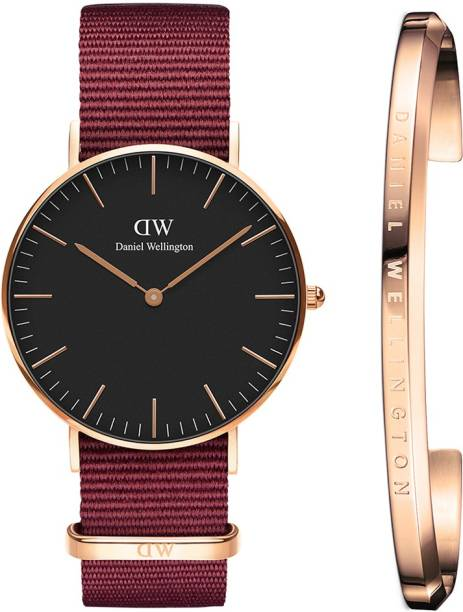 e92f0e517bbd Daniel Wellington DW00500266 Classic Roselyn 36mm RG Black Dial   Classic  Cuff Rose Gold. Watch