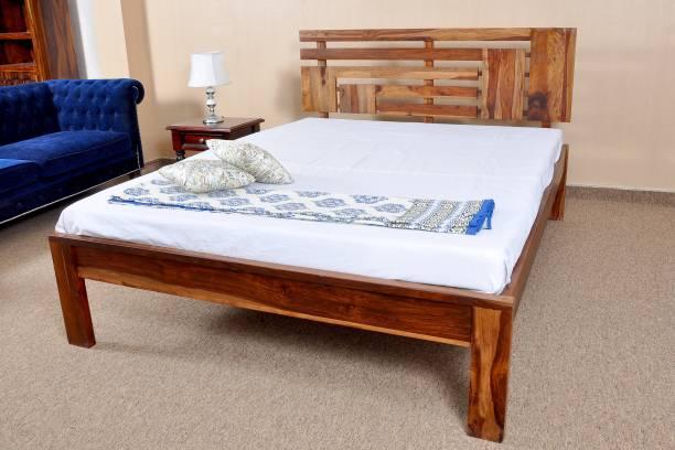 Home Edge Sheesham Wood Solid Wood King Bed