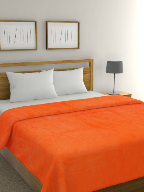 Raymond Home Solid Double Coral Blanket