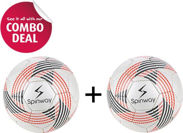 Spinway Football SW- 100 ( NO.5) For ages 12 plus combo Deal Football - Size: 5