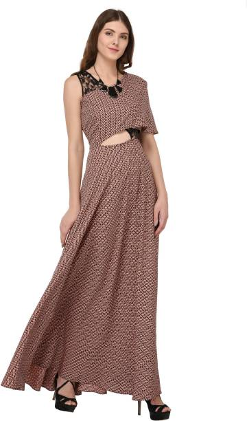 d561726ed8cd Brown Dresses - Buy Brown Dresses Online at Best Prices In India ...