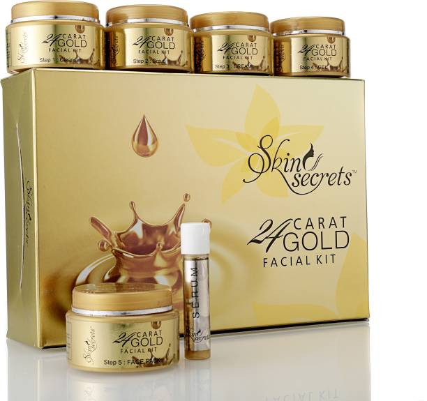Skin Secrets 24 CARAT GOLD FACIAL KIT 62g