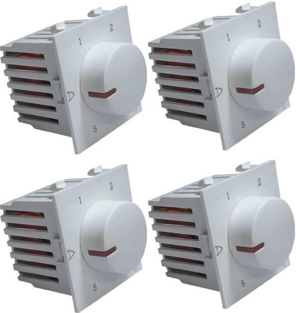 HI-PLASST SOCKET MODULAR NEW 5 STEP PENTA - 4PCS FAN REGULATOR Step-Type Button Regulator
