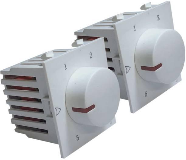 HI-PLASST SOCKET MODULAR NEW 5 STEP PENTA - 2PCS FAN REGULATOR Step-Type Button Regulator
