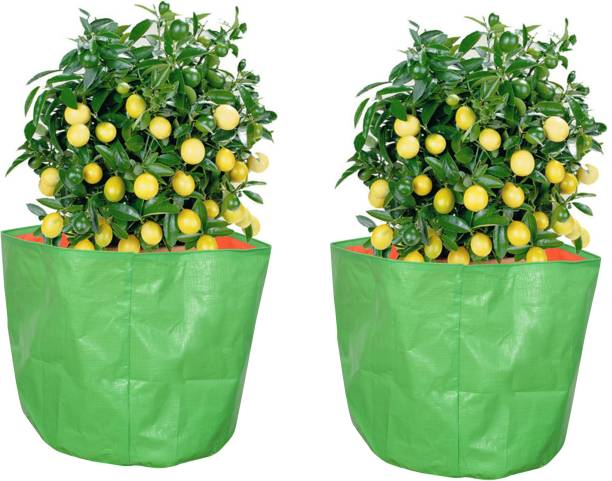 """Coirgarden Terrace Gardening HDPE Grow Bags for Vegetable Plants (18""""x18"""" inches) - [45cms(L) X 45cms(H)] - Pack of 2 Grow Bag"""