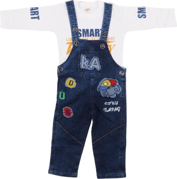 97e3a635b4d1 NJ Retails- Little Generation Dungaree For Boy s Party Self Design Denim