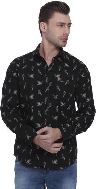 Mufti Men Animal Print Casual Multicolor Shirt