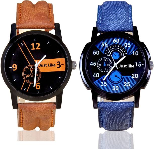 just like Stylish Attractive Chronograph Pattern Combo pack-2 Boys Watch Combo pack 2 Watch