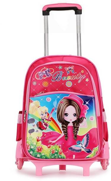 903499abb4af GOCART kids Trolley Bags For School padded shoulder straps backpack girl  Travel Trolley Backpack Waterproof School