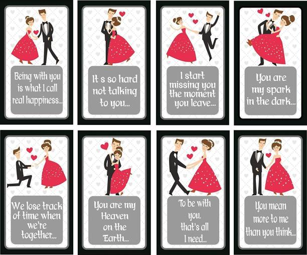 SYGA Stages of Love Story Perfect Valentine,Birthday,Wedding,Anniversary Gift for Your Loved Once (Pattern3) Greeting Card