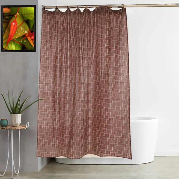 Kuber Industries 213 7 Ft PVC Shower Curtain Single