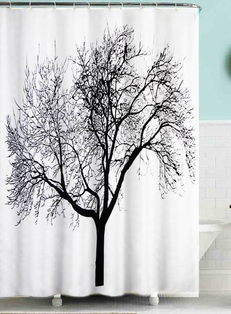 Lushomes 200 Cm 7 Ft Polyester Shower Curtain Single