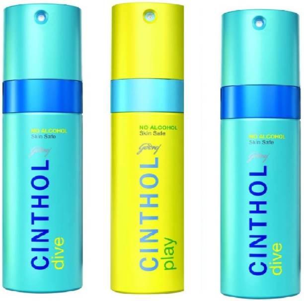 Cinthol Energy play Deodorant Spray  -  For Men