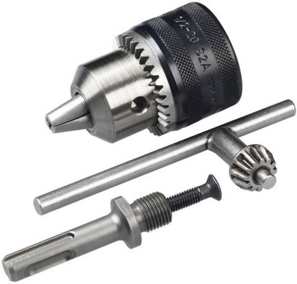 "ISC Heavy Duty 13Mm Drill Chuck Size 1-13Mm Drill Chuck Sds Adaptor Key Set Female 1/2"" 20 Unf ( ISC )"