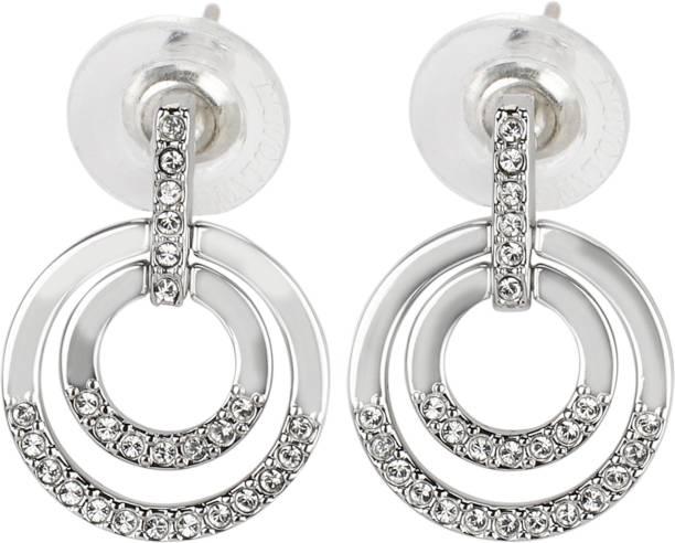 Swarovski 5349203 Circle Pierced Earrings Medium Metal Earring Set