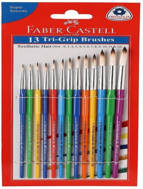 FABER-CASTELL 13 tri grip brushes
