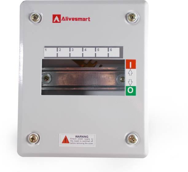 ALIVESMART Single Door 6 Way MCB BOX Distribution Board