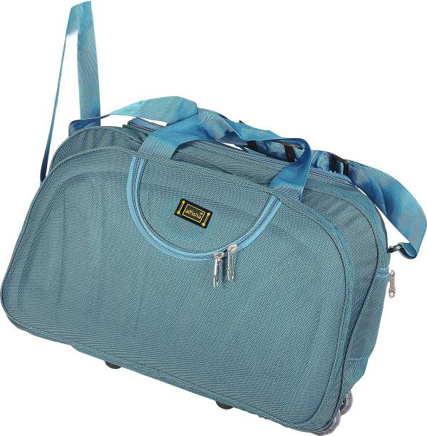 a58eb64bc alfisha (Expandable) Lightweight Waterproof Luggage Travel Duffel Bag with  Roller wheels - Gala Peacoxk