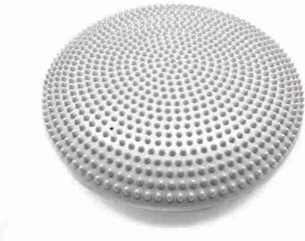 Fitguru Inflated Stability Balance Cushion Pad(Grey)For Exercise&Fitness Use in Home&Gym. Wobble Board Fitness Balance Board