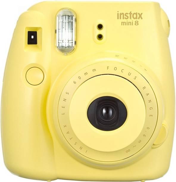 Fujifilm instax Mini 8 Yellow   with 10x2 film  Instant Camera
