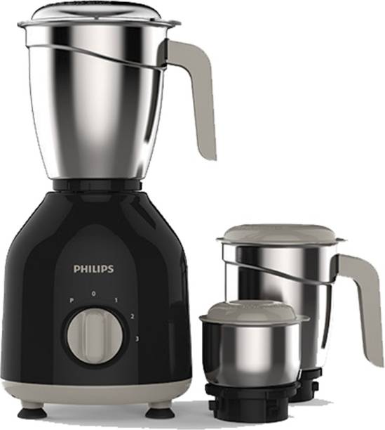 PHILIPS Daily Collection HL7756/00 750 W Mixer Grinder (3 Jars, Black)