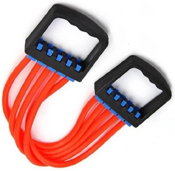 V.M Enterprises Body Builder Chest Expender Silicon Adjustable (Red) Resistance Tube