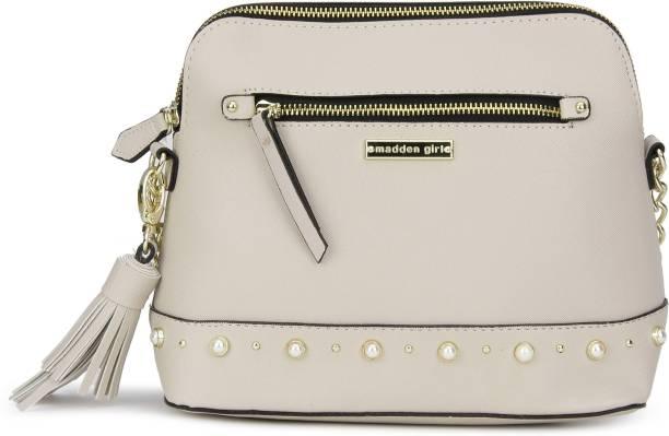 Steve Madden Women Casual Pink Pu Sling Bag