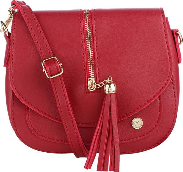 E2o Fashion Women Casual Red Pu Sling Bag