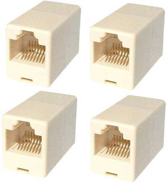 CAPSLOCK RJ45 8P8C CAT5, CAT5E, CAT6 Female to Female (LAN) Network Cable Coupler/Adapter/Connector,4 Pcs LAN CABLE CONNECTOR Wire Connector