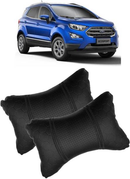 Shoolin Black Leatherite Car Pillow Cushion for Ford